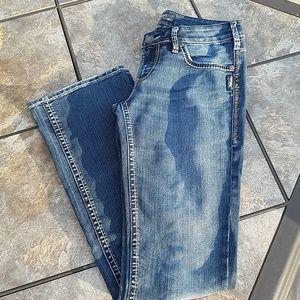 Silver Aiko bootcut dark wash jeans